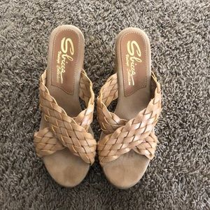 Sibicca Vintage Collection nude wedge